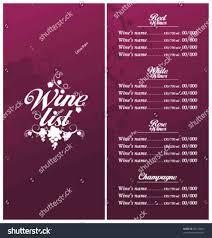 template list set stock vector slena beer templates free sample