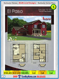 floor plans for homes two story el paso rochester modular home two story plan price