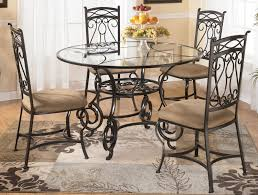 round glass dining table set shelby knox