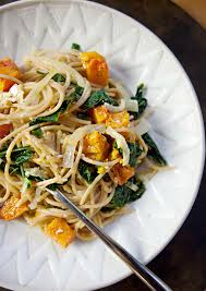 creamy pasta with roasted butternut squash and kale u2014 produce on