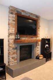 agreeable neutral stone precast fireplace ideas with gorgeous