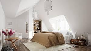 Scandinavian Bedroom Design Dominant With White Color Theme - White color bedroom design