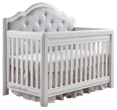 Pali Toddler Rail Pali Cristallo Forever Crib In Vintage White With Leather Panel