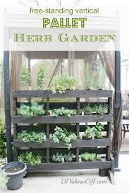 how to build an herb garden free standing pallet herb garden diy show off diy decorating