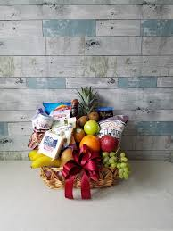 gourmet fruit baskets the loaded gourmet fruit basket by amberworks floral design in