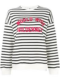black and white cotton striped sweatshirt from carhartt women