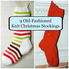 11 old fashioned knit christmas stockings knitted christmas