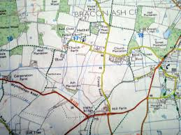 Norfolk County Wall Map Framed Walk Norfolk