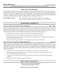 C Level Executive Resume Dazzling Executive Secretary Resume 6 Sample Of A Resume Example