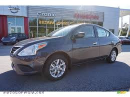 dark gray nissan 2015 nissan versa 1 6 sv sedan in amethyst gray 852405 autos