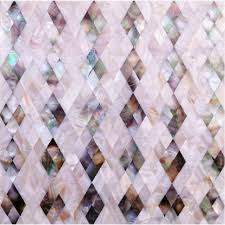 Seashell Diamond Shape Kitchen Backsplash Cheap Shell Mosaic Wall - Cheap mosaic tile backsplash