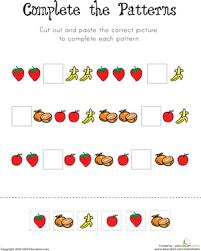 pattern worksheets pattern worksheets for third grade free