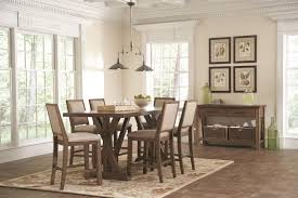 Rustic Dining Room Sets Coaster Bridgeport Rustic Craftsman Base Dining Table Coaster