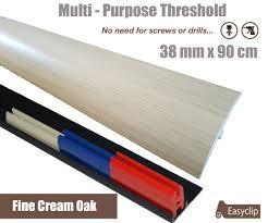 Laminate Floor Reducer Strip Fine Cream Oak Laminate Transition Strip 38mm X 0 90mtr Multi