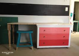 Making A Wood Desktop by How To Make A Desk From A Dresser With Wallpapered Drawers