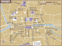 rennes map map of rennes