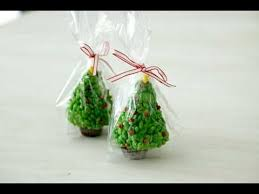 christmas desserts how to make rice krispies trees youtube