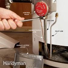 water heater will not light how to fix a water heater pilot light the family handyman