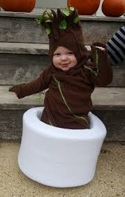 groot costume a baby in a baby groot costume make