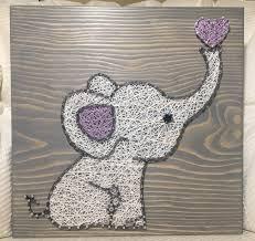 elephant string art nursery order from kiwistrings on etsy www