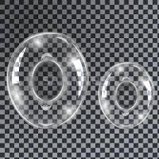 bubbles letters o vector illustration borys dyvyzyniuk