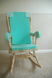 Modern Nursery Rocking Chair by Furniture Cream Rocking Chair For Nursery With Blue Cushions On