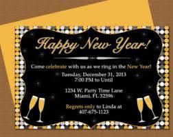 New Year Invitation Card Nye Invitation Etsy