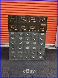 index card file cabinet vintage industrial 3 pc index card catalog 38 drawer file cabinet metal
