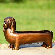 amazon com dachshund planter garden u0026 outdoor