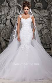 mermaid wedding dress magnificent lace and tulle mermaid dress with wedding veil