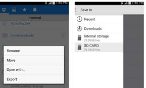 how to save to android dropbox for android now offers sd card storage mobilevillage
