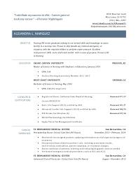 Graduate Nurse Resume Example by New Nurse Resume Template