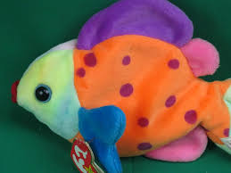 ty beanie babies tropical fish lips polkadot bean bag plush