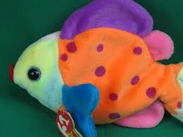 ty beanie babies tropical fish lips polkadot bean bag plush