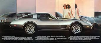 corvette 25th anniversary edition 1978 corvette specs colors facts history and performance