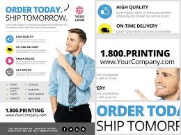 printing services flyer template 2 flyerheroes