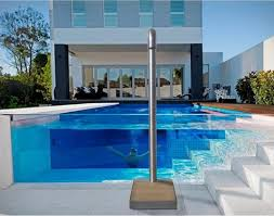 easy shower a bordo piscina easy shower docce automatiche see through peek a boo pool