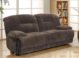 Dual Reclining Sofa Homelegance Geoffrey Sofa Dual Recliner Chocolate Textured