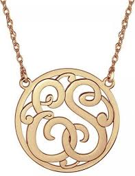 Monagram Necklace Classic Halo Two Initial Monogram Necklace Be Monogrammed