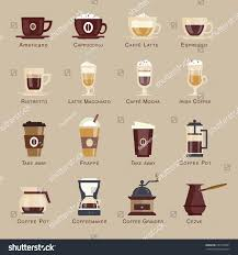 espresso macchiato coffee vector icon set menu coffee stock vector 257746051