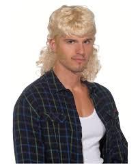 halloween blonde wigs blonde mullet wig men hair makeup accessory