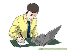 thank you letter after interview with multiple interviewers how to follow up after a job interview with examples wikihow