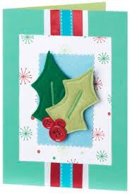 handmade christmas card with fabric u0026 felt handmade cards