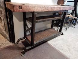 Table Haute En Bois Massif by Grand Bar Plan De Travail Comptoir établi Geonancy Design