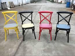 Black Metal Bistro Chairs Sprig Bar Bistro Black Metal X Back Industrial Design Dining Chair