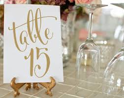 Diy Table Number Holders Gold Table Numbers Etsy