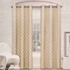 Sheer Grommet Curtains Red Barrel Studio Mortimer Geometric Semi Sheer Grommet Curtain