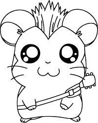 Coloriage hamster et dessin à imprimer