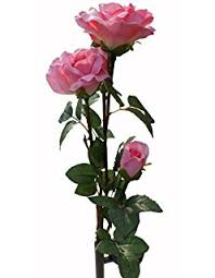 amazon com beautiful solar red rose light flower garden stake