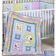 Snoopy Bed Set Snoopy And Family 6 Crib Bedding Set Findgift